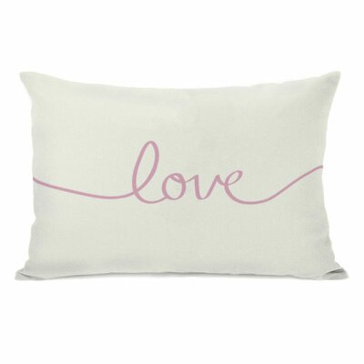Love Script Lumbar Pillow