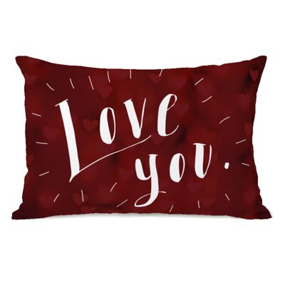 Love You Hearts Lumbar Pillow