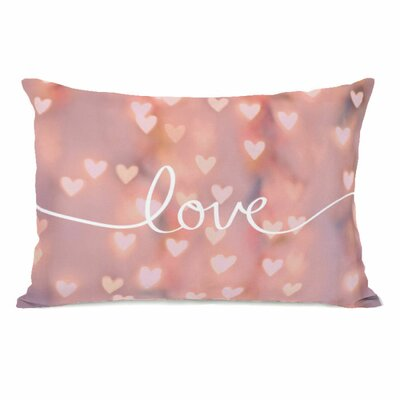 Script Love Bokeh Lumbar Pillow