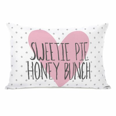 Sweetie Pie Honey Bunch Dots Throw Pillow