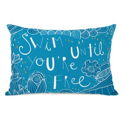 Swim Until Youre Free Throw Pillow