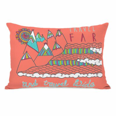 Travel Far Travel Wide Throw Pillow