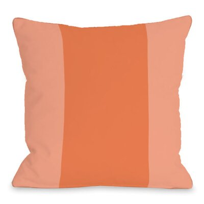 Throw Pillow Size: 16 H x 16 W x 3 D, Color: Tangerine