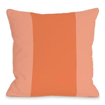 Throw Pillow Size: 18 H x 18 W x 3 D, Color: Tangerine