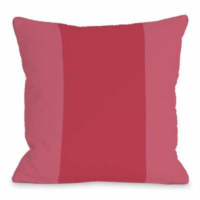 Throw Pillow Size: 16 H x 16 W x 3 D, Color: Rose