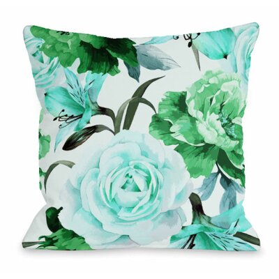 A Floral Afternoon Throw Pillow Size: 18 H x 18 W x 3 D, Color: Lime