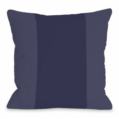 Throw Pillow Size: 18 H x 18 W x 3 D, Color: Midnight
