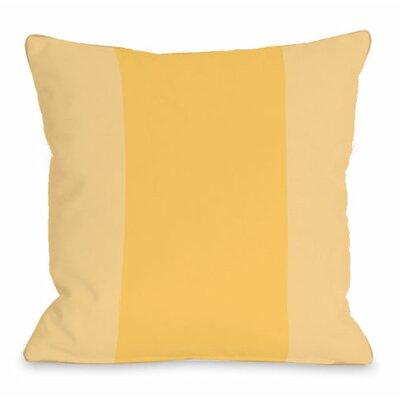 Throw Pillow Size: 18 H x 18 W x 3 D, Color: Dandelion