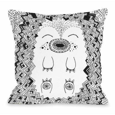 Happy Hog Throw Pillow Size: 18 H x 18 W x 3 D
