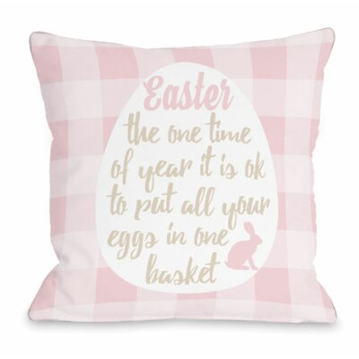 Eggs in One Basket Throw Pillow Size: 16