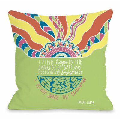 Find Hope in the Darkest Days Throw Pillow Size: 18 H x 18 W x 3 D
