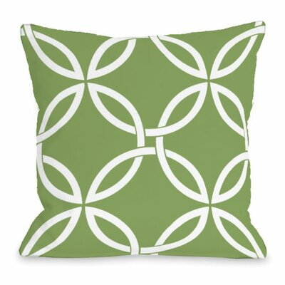 Interwoven Circles Throw Pillow Size: 16 H x 16 W x 3 D, Color: Olive