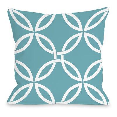 Interwoven Circles Throw Pillow Size: 16 H x 16 W x 3 D, Color: Sky