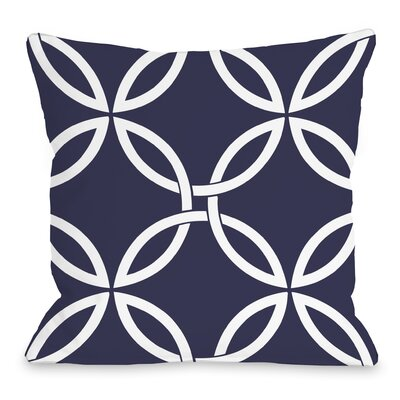 Interwoven Circles Throw Pillow Size: 16 H x 16 W x 3 D, Color: Midnight