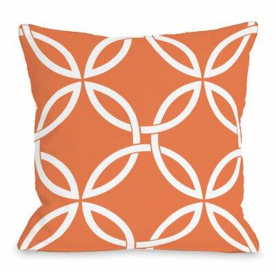 Interwoven Circles Throw Pillow Size: 18 H x 18 W x 3 D, Color: Tangerine