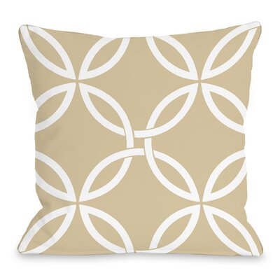 Interwoven Circles Throw Pillow Size: 18 H x 18 W x 3 D, Color: Sand