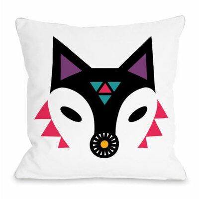 Navajo Fox Throw Pillow Size: 18 H x 18 W x 3 D