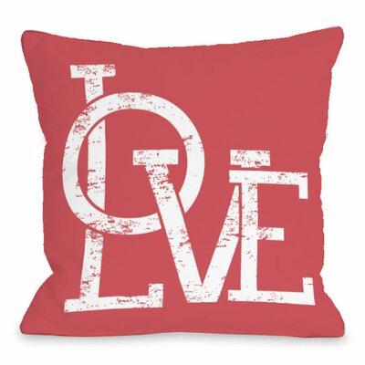 Modern Love Overlap Throw Pillow Size: 18 H x 18 W x 3 D