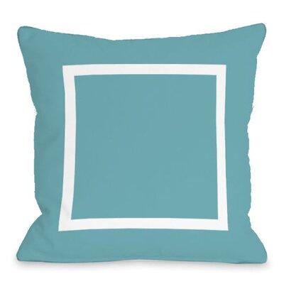 Open Box Throw Pillow Size: 18 H x 18 W x 3 D, Color: Sky
