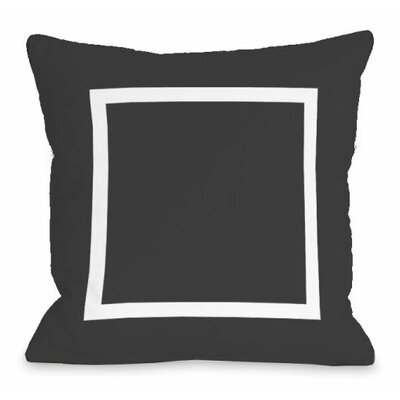Open Box Throw Pillow Size: 18 H x 18 W x 3 D, Color: Charcoal