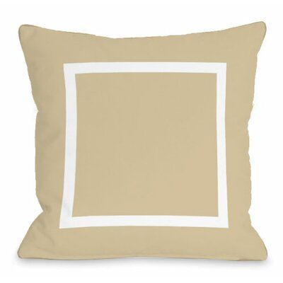 Open Box Throw Pillow Size: 16 H x 16 W x 3 D, Color: Sand