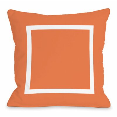 Open Box Throw Pillow Size: 18 H x 18 W x 3 D, Color: Tangerine