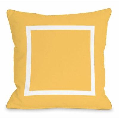 Open Box Throw Pillow Size: 16 H x 16 W x 3 D, Color: Dandelion