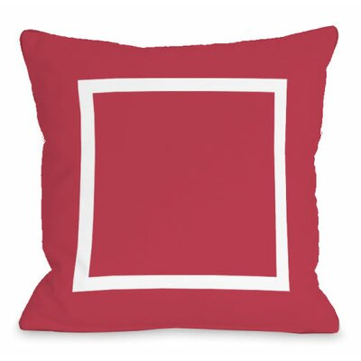 Open Box Throw Pillow Size: 16 H x 16 W x 3 D, Color: Rose