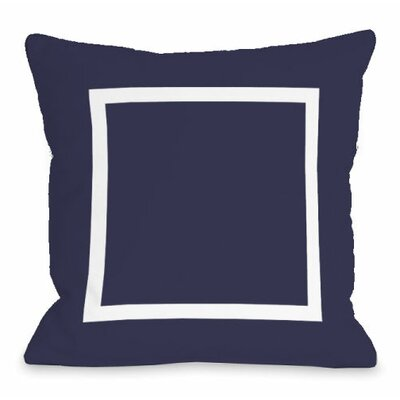 Open Box Throw Pillow Size: 16 H x 16 W x 3 D, Color: Midnight