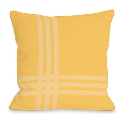Plaid Pop Throw Pillow Size: 18 H x 18 W x 3 D, Color: Dandelion