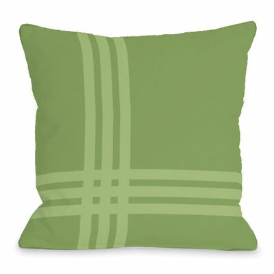 Plaid Pop Throw Pillow Size: 16 H x 16 W x 3 D, Color: Olive