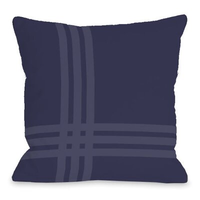 Plaid Pop Throw Pillow Size: 18 H x 18 W x 3 D, Color: Midnight