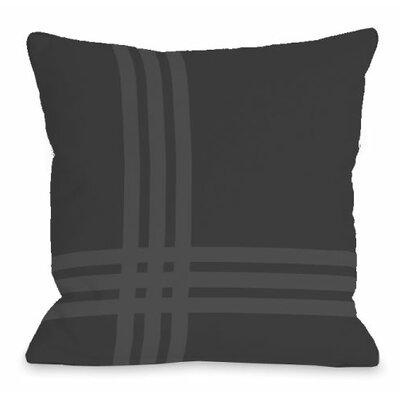 Plaid Pop Throw Pillow Size: 16 H x 16 W x 3 D, Color: Charcoal