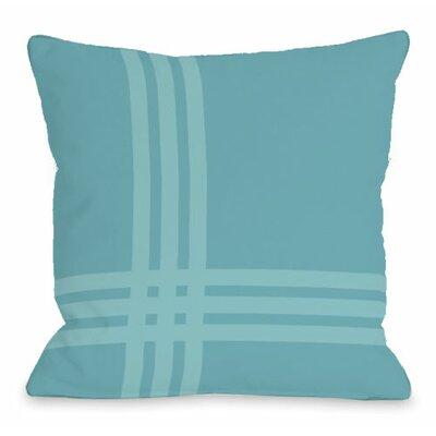 Plaid Pop Throw Pillow Size: 16 H x 16 W x 3 D, Color: Sky