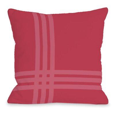 Plaid Pop Throw Pillow Size: 18 H x 18 W x 3 D, Color: Rose