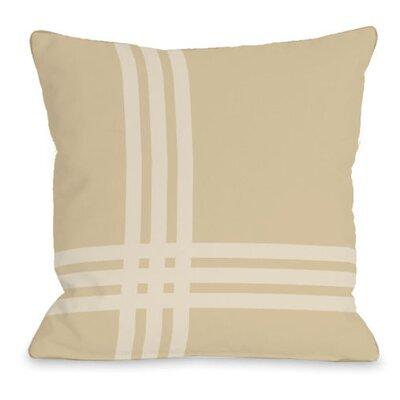 Plaid Pop Throw Pillow Size: 16 H x 16 W x 3 D, Color: Sand
