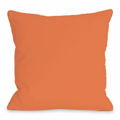 Solid Color Throw Pillow Size: 18 H x 18 W x 3 D, Color: Tangerine