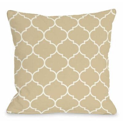 Repeating Moroccan Throw Pillow Size: 16 H x 16 W x 3 D, Color: Sand