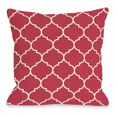 Repeating Moroccan Throw Pillow Size: 18 H x 18 W x 3 D, Color: Rose