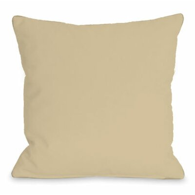 Solid Color Throw Pillow Size: 16 H x 16 W x 3 D, Color: Sand