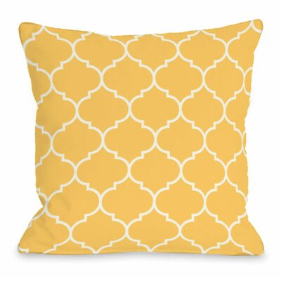 Repeating Moroccan Throw Pillow Size: 18 H x 18 W x 3 D, Color: Dandelion