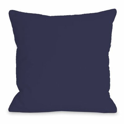 Solid Color Throw Pillow Size: 16 H x 16 W x 3 D, Color: Midnight