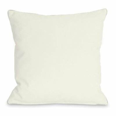 Solid Color Throw Pillow Size: 16 H x 16 W x 3 D, Color: Ivory