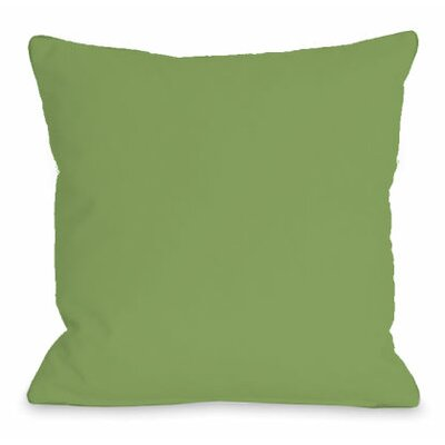 Solid Color Throw Pillow Size: 18 H x 18 W x 3 D, Color: Olive