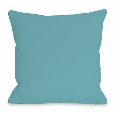 Solid Color Throw Pillow Size: 16 H x 16 W x 3 D, Color: Sky
