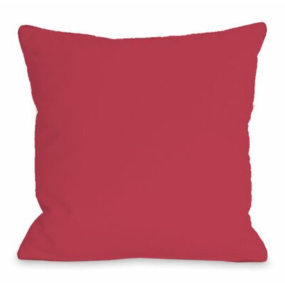 Solid Color Throw Pillow Size: 16 H x 16 W x 3 D, Color: Rose