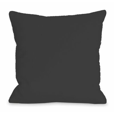 Solid Color Throw Pillow Size: 18 H x 18 W x 3 D, Color: Charcoal
