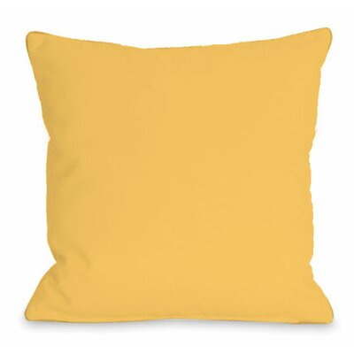 Solid Color Throw Pillow Size: 18 H x 18 W x 3 D, Color: Dandelion