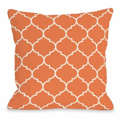 Repeating Moroccan Throw Pillow Size: 16 H x 16 W x 3 D, Color: Tangerine