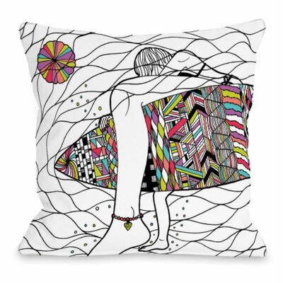 Soul Surfer Throw Pillow Size: 16 H x 16 W x 3 D